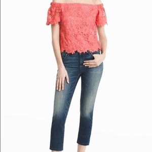 WHBM Straight Crop Jeans